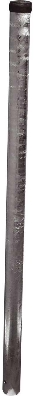 Schake Schilderpfosten Stahl Ø 76 mm - 2,50 m Rohrpfosten mit Kunststoffkappe und Erdanker (SK-473.25) Bild-01