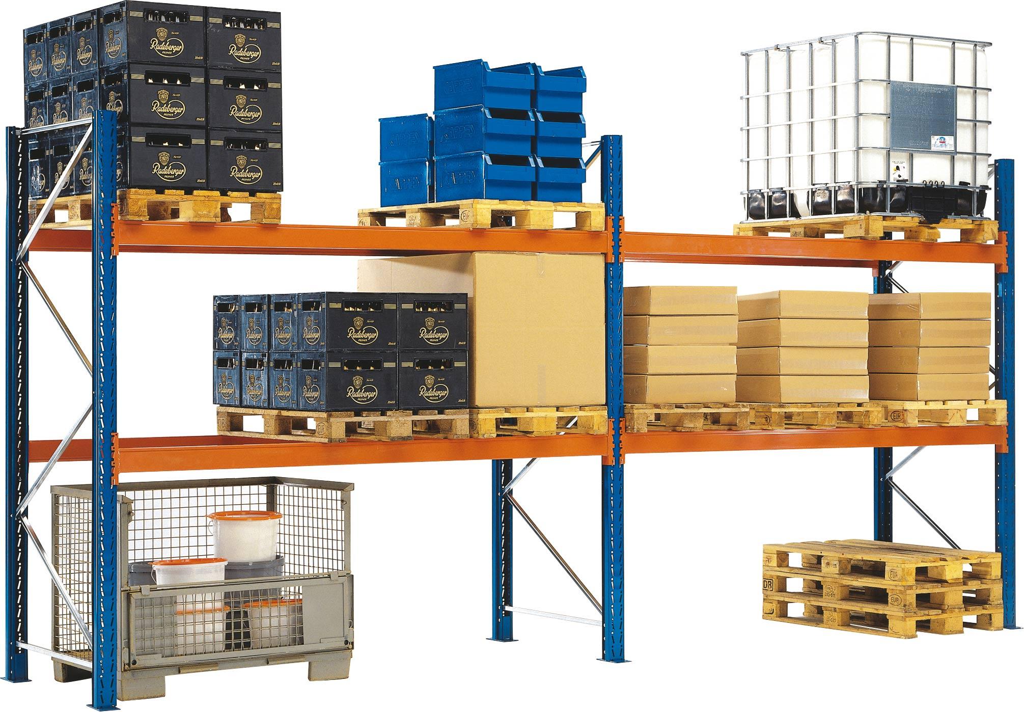 Regalwerk KENO Palettenregal 90|50 - Auflageträger 90 x 50 mm Fachlast 2120 kg - 2 bis 4 Ebenen (RW-C-B4-52131-750) Bild-01