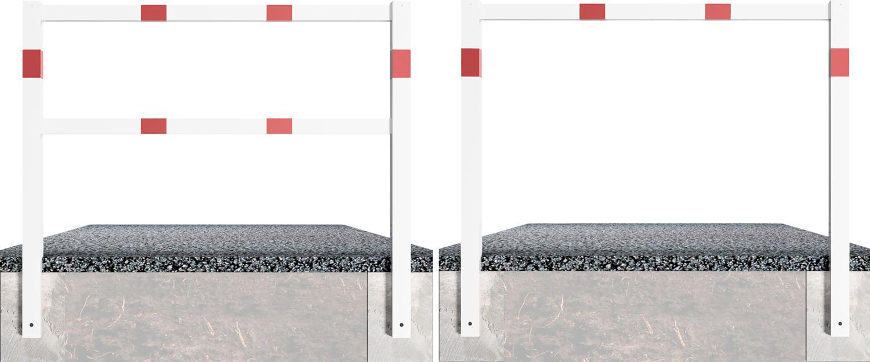 Schake Wegesperre Stahl 70 x 70 mm weiß | rot