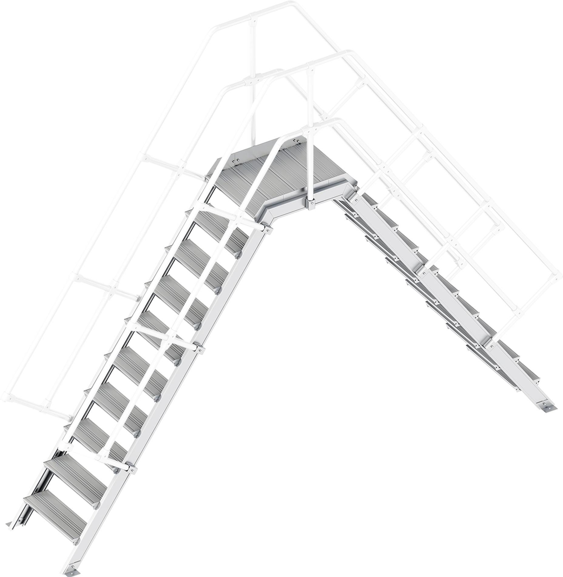 Layher Übergang 55° 10 Stufen - 600 mm breit