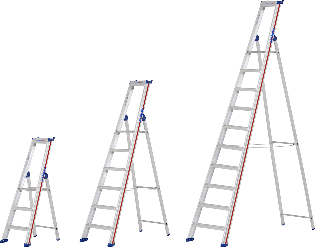Hymer Stehleiter SC 60 Alu 3 - 10 Stufen
