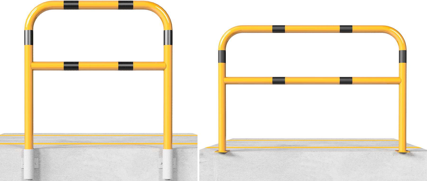 Schake Sperrbügel Stahl mit Knieholm Ø 60 mm gelb | schwarz
