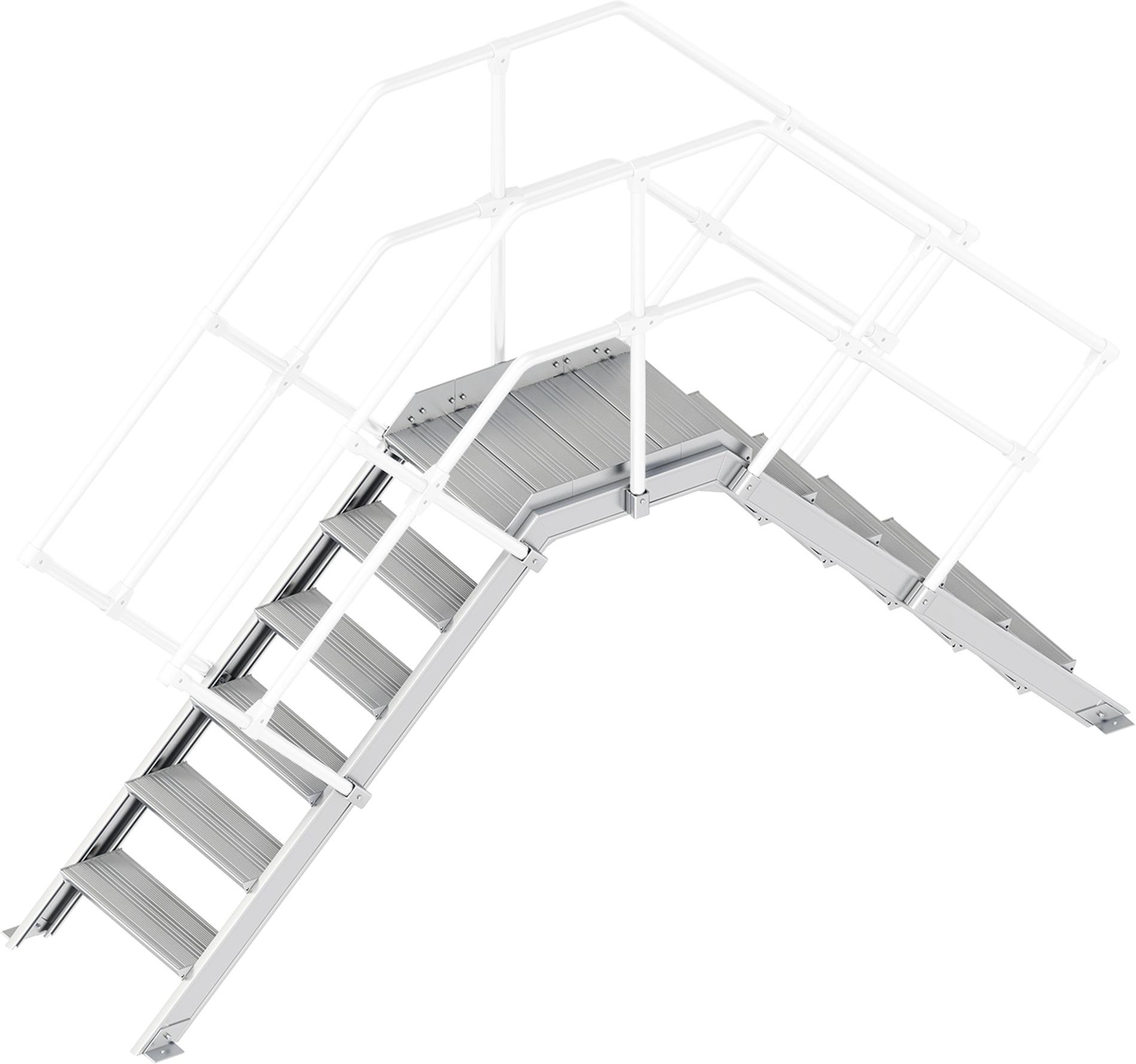 Layher Übergang 45° 6 Stufen - 600 mm breit