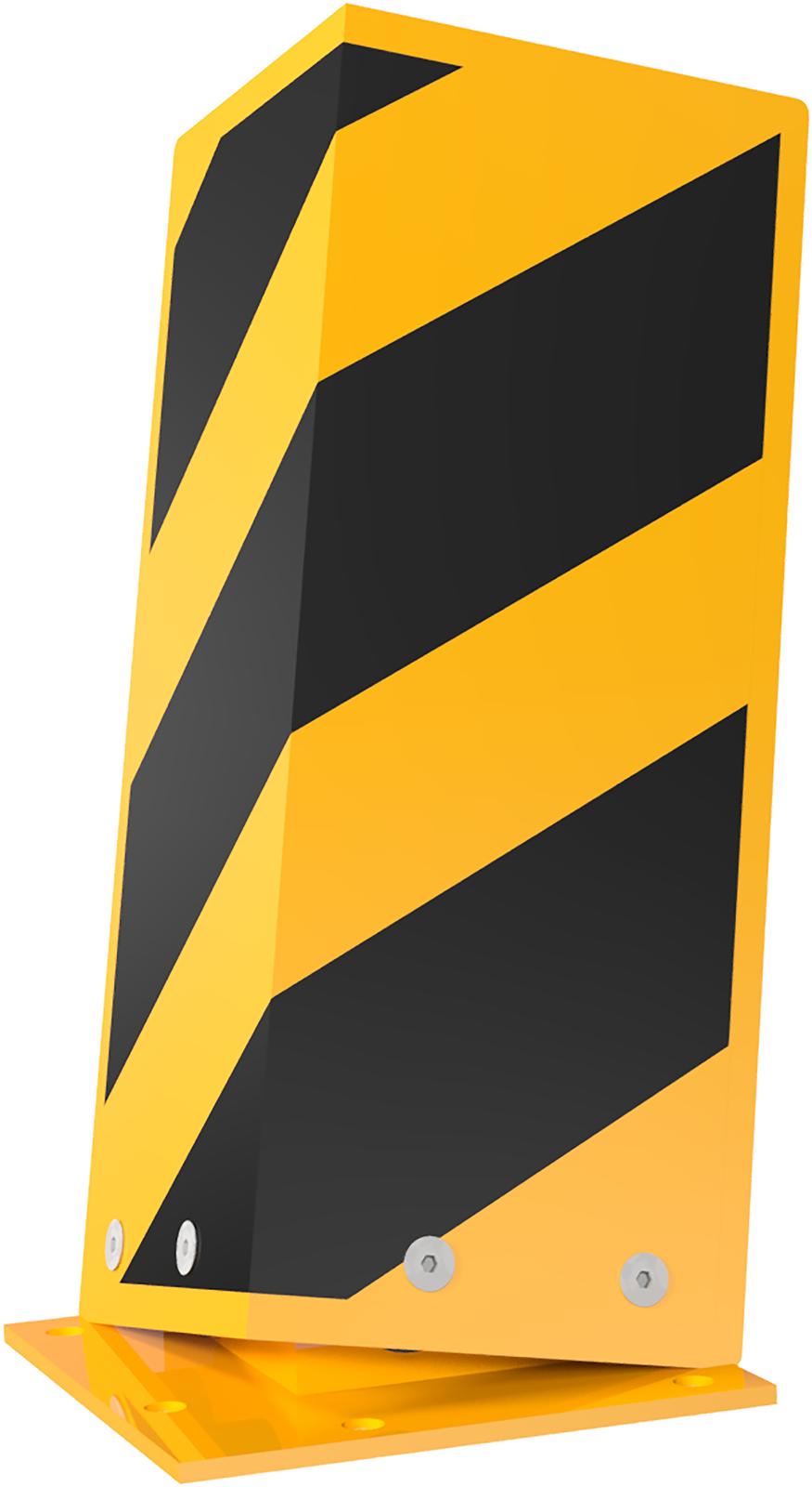 Schake Anfahrschutzwinkel Stahl neigbar gelb | schwarz - 400 mm