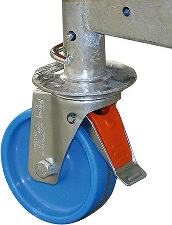 Krause Rollgerüst ClimTec Fahrrollensatz Ø 125 mm