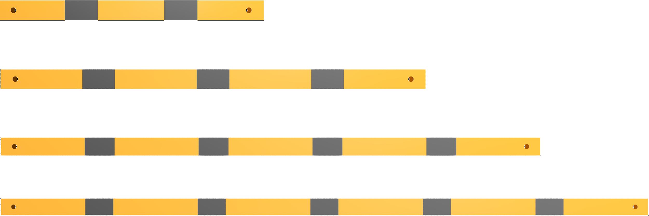Schake Schutzgeländer Stahl Querholm 60 x 40 mm gelb | schwarz