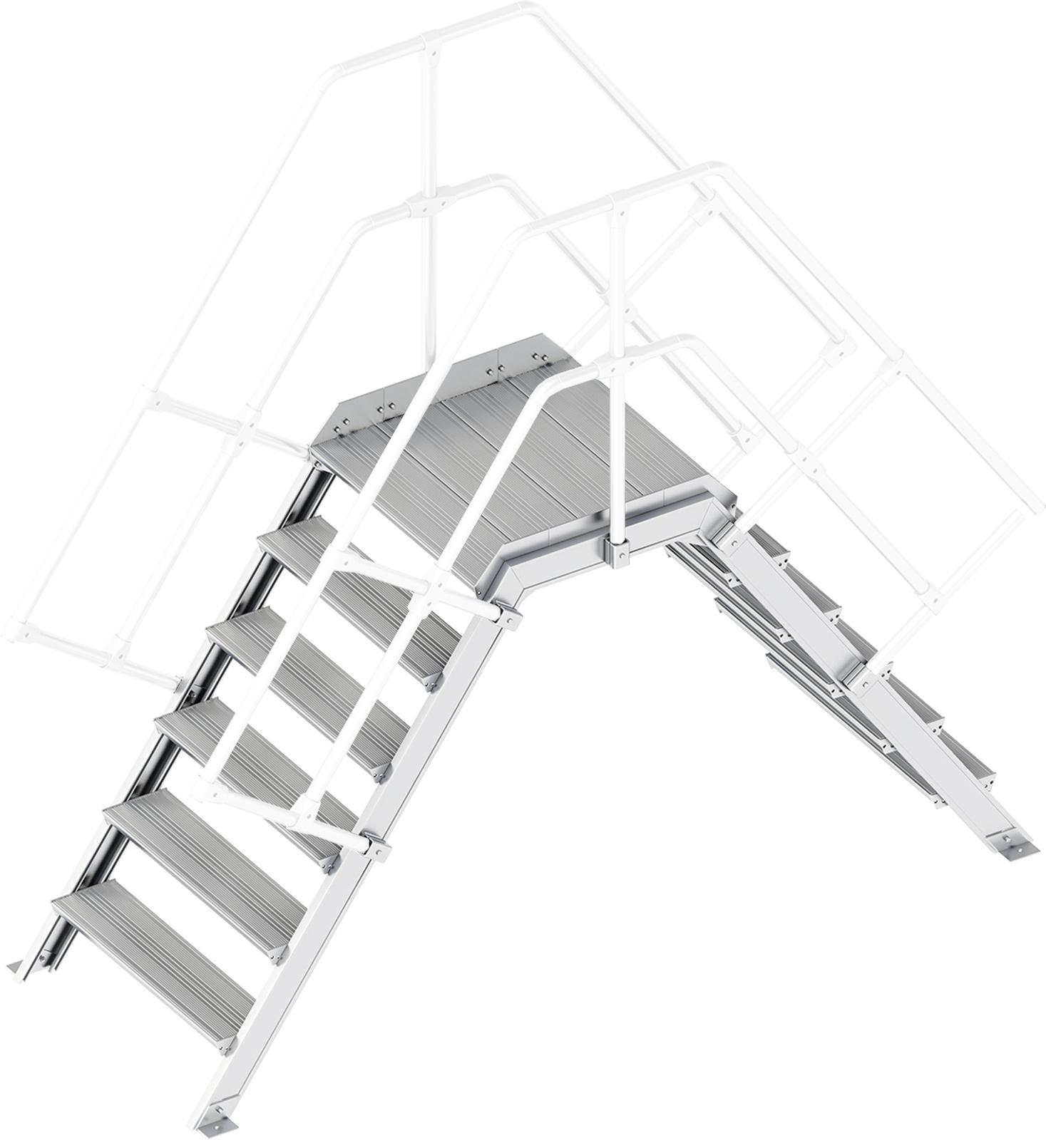 Layher Übergang 55° 6 Stufen - 800 mm breit