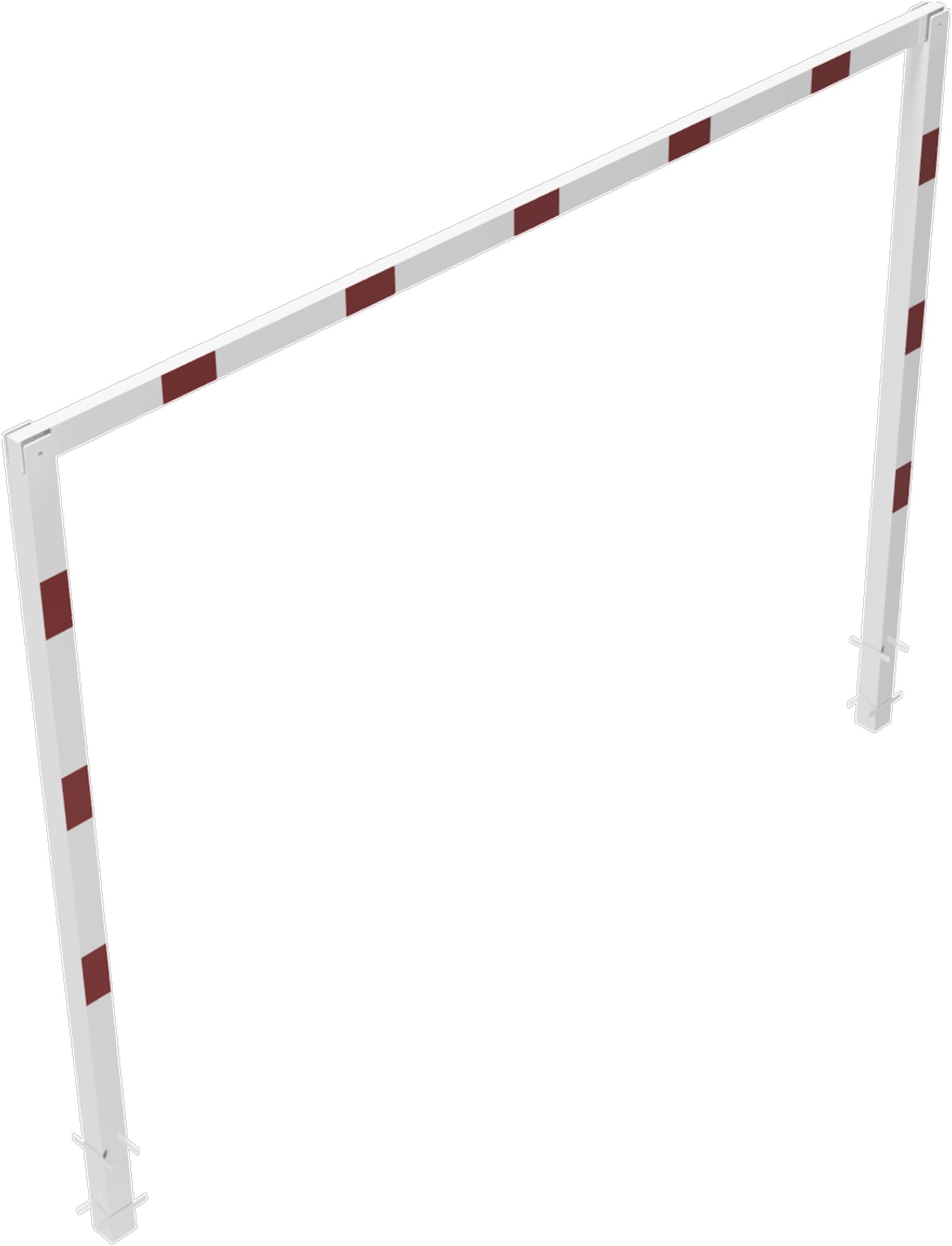 Schake Höhenbegrenzer - 2 Standpfosten Stahl 100 x 100 mm weiß | rot