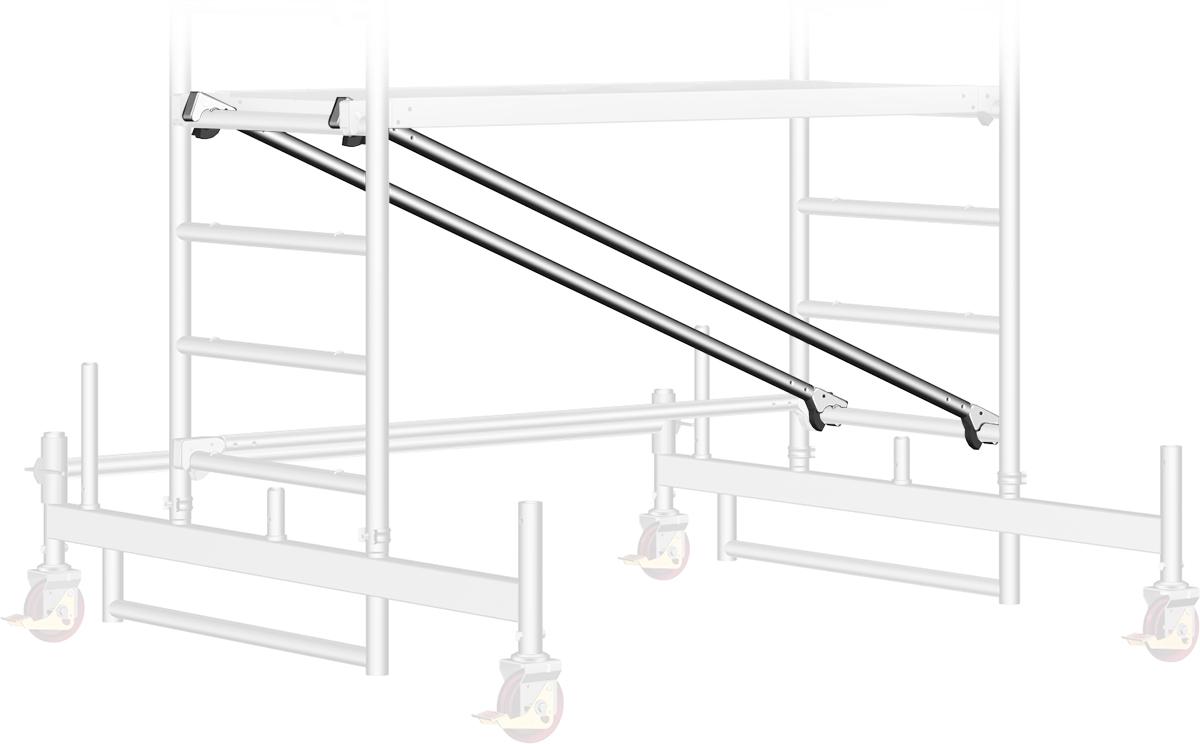 Fahrgerüst Layher Uni Kompakt P2 1405008 mit Diagonal-Optimierung