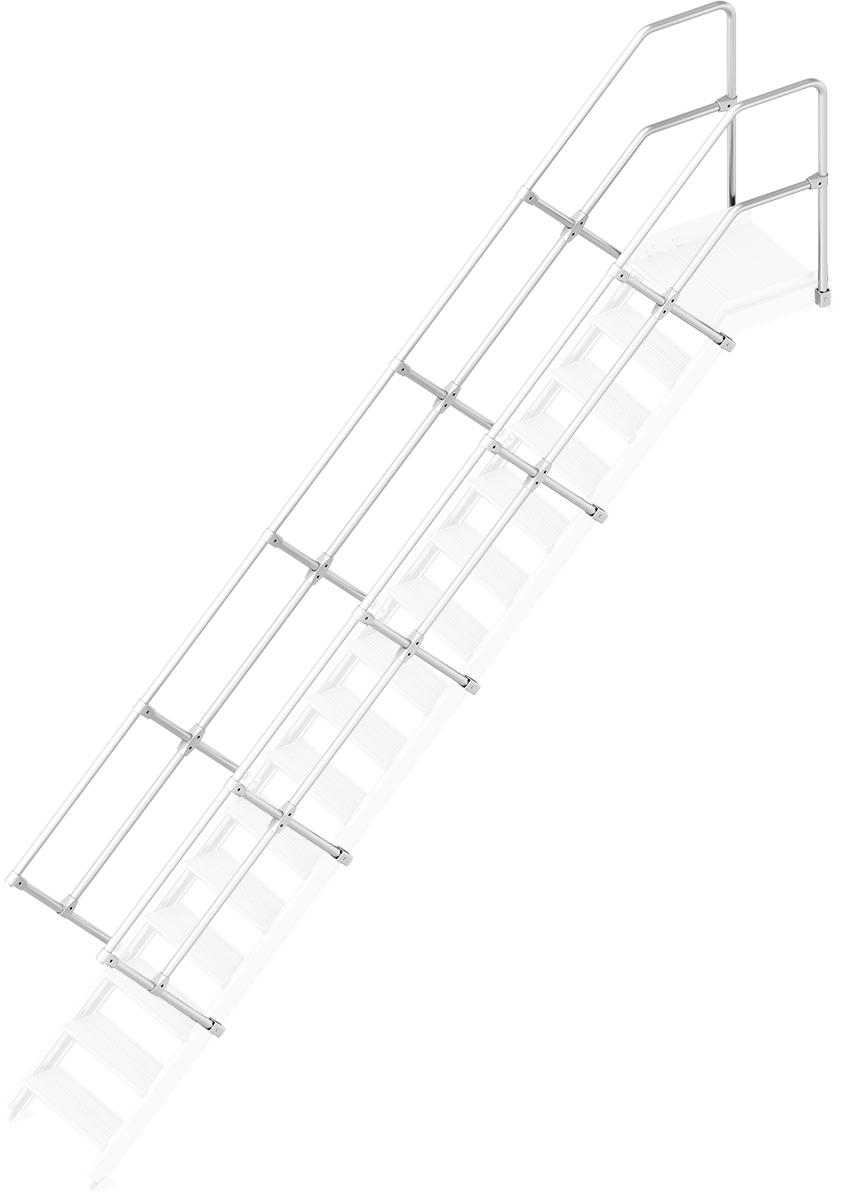 Layher Handlauf Geländer Plattformtreppe 45° 16 Stufen