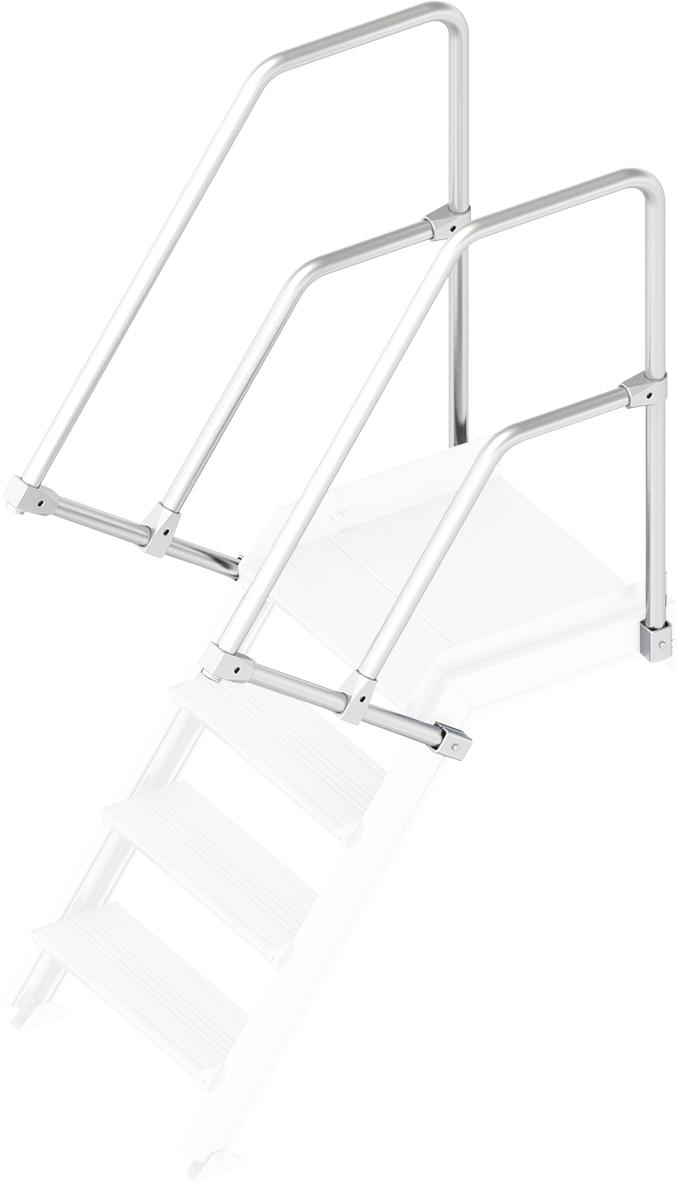 Layher Handlauf Geländer Plattformtreppe 55° 4 Stufen