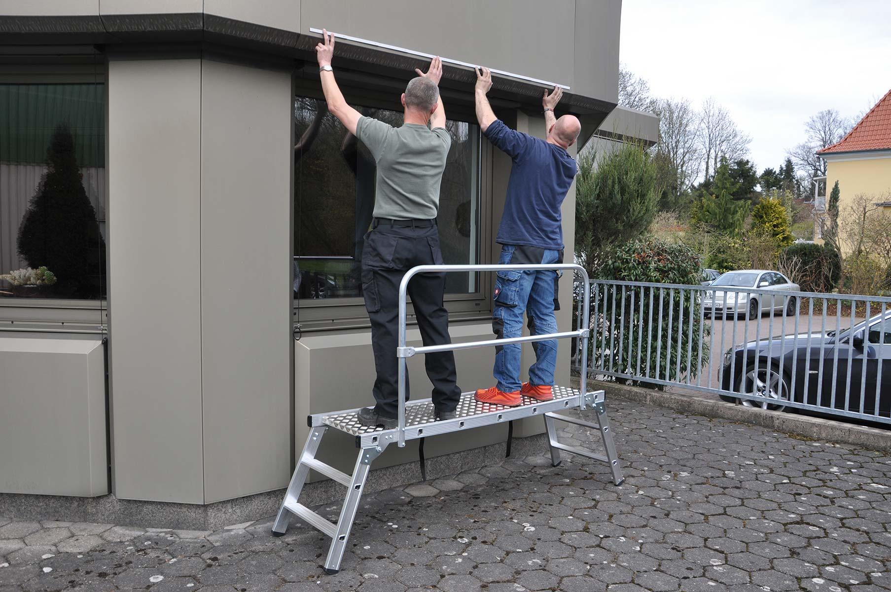 euroline Geländer für Alu-Arbeitsplattform