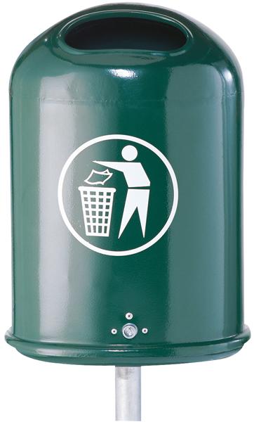 Schake Abfallbehälter oval - 45 Liter