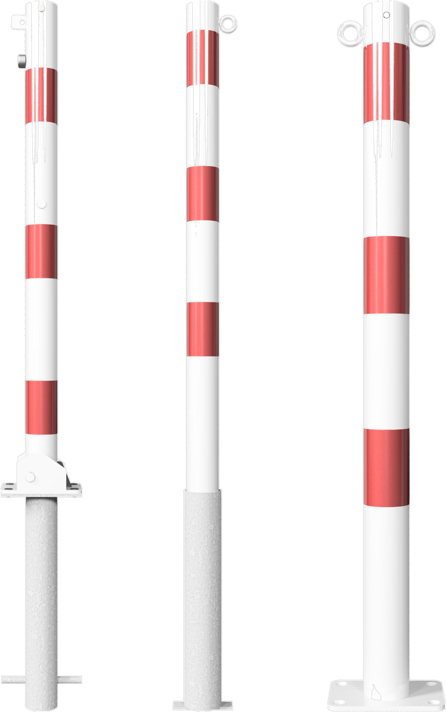 Schake Absperrpfosten Stahl Ø 60 mm weiß | rot