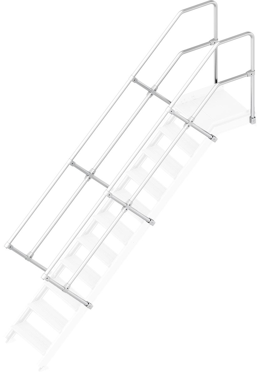 Layher Handlauf Geländer Plattformtreppe 45° 11 Stufen