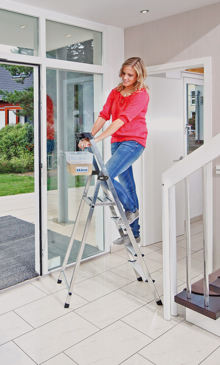 Krause Alu-Stufenstehleiter Safety® 4 Stufen