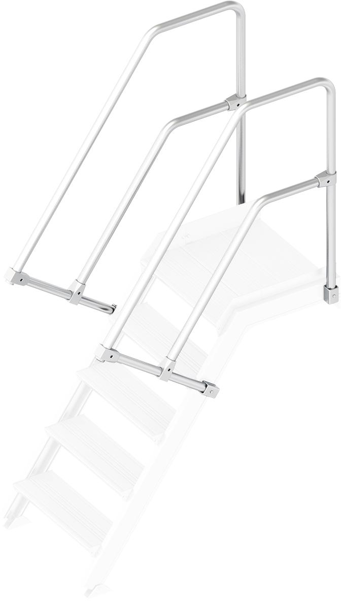Layher Handlauf Geländer Plattformtreppe 55° 5 Stufen