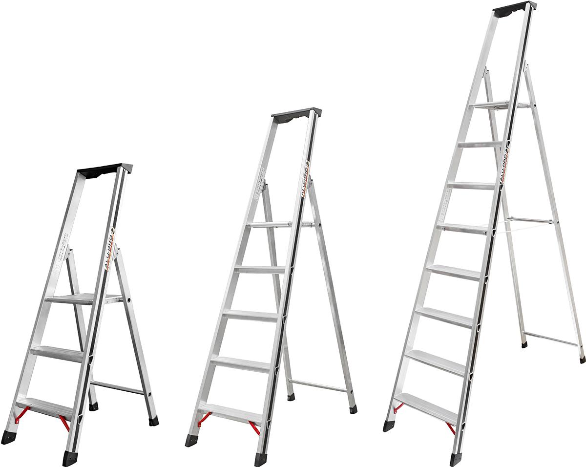 Hymer Alu-Pro Stehleiter 3 - 8 Stufen