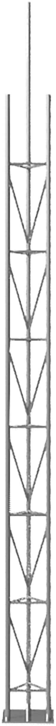 Schake Gitterrohrmast 6,15 m für Aufstellrahmen