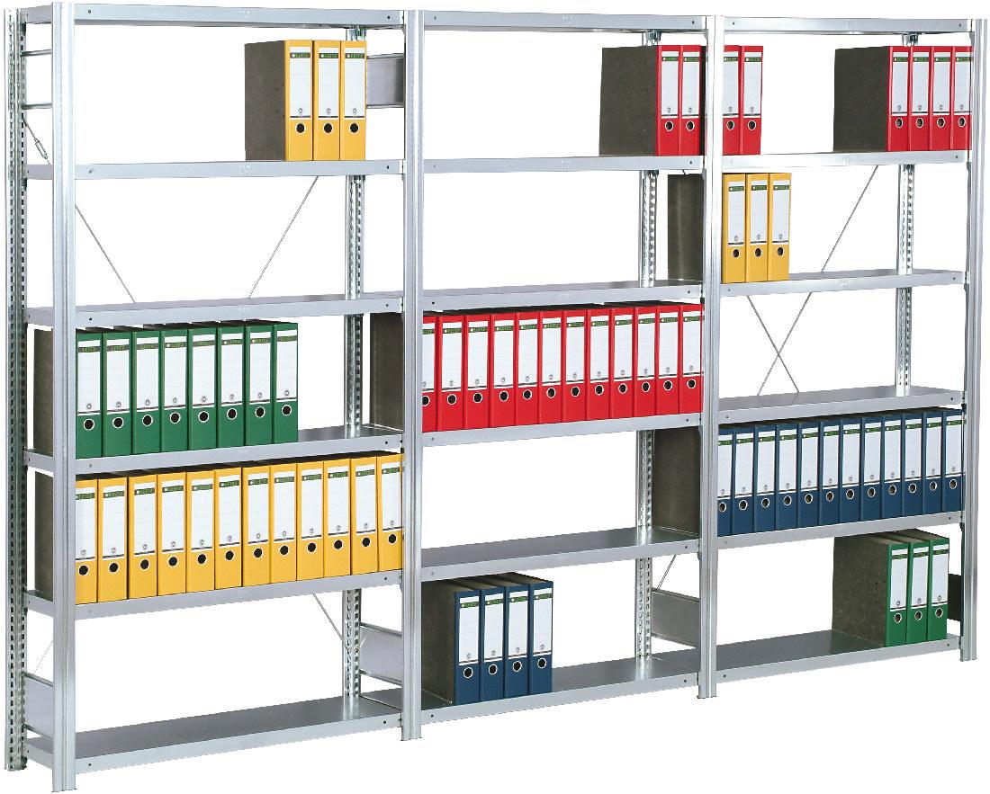 Regalwerk BERT Büroregal 150 Fachlast 150 kg - 6 bis 7 Fachböden (RW-C-B3-55108-30) Bild-01