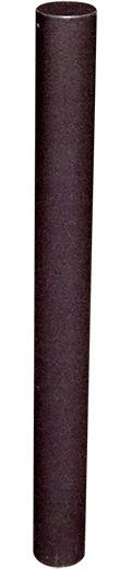 Schake Stilpfosten 4074 OE Ø 76 mm dunkelgrau Pfosten mit Flachkopf - ortsfest - zum Einbetonieren (SK-4074B) Bild-01