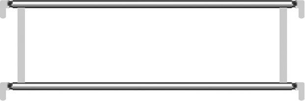 Layher Blitz Alu-Doppelgeländer 1,57 m
