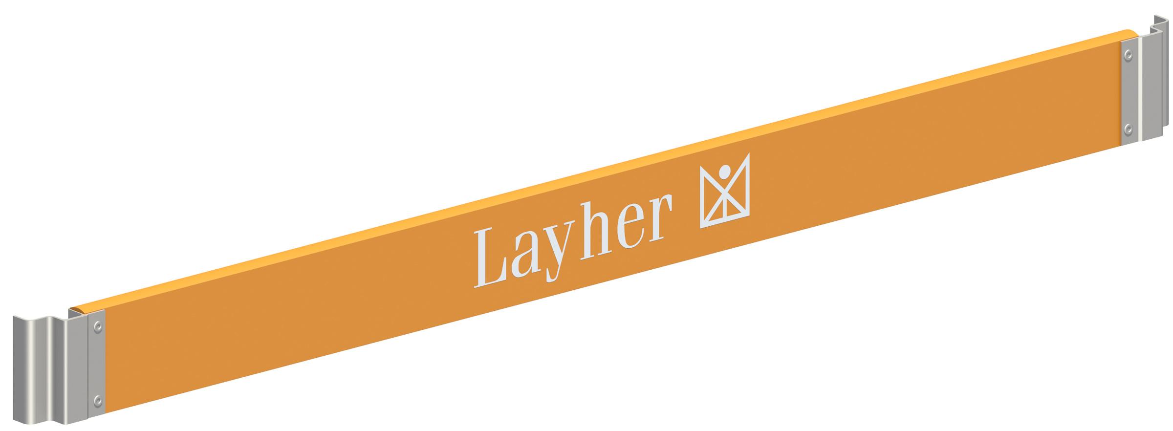 Layher Staro Rollbock Holz-Bordbrett mit Klaue 1,95 m