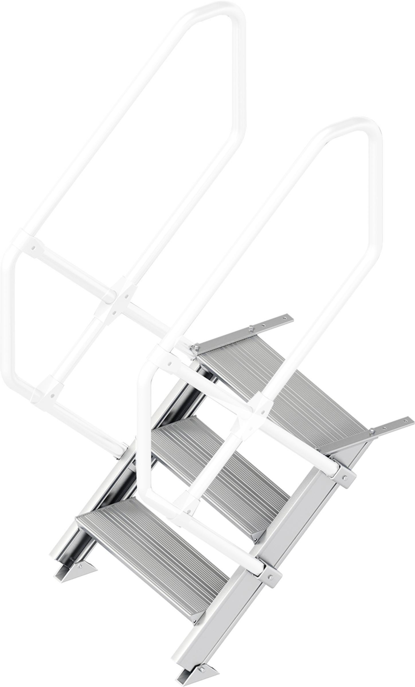 Layher Treppe 45° 3 Stufen - 600 mm breit