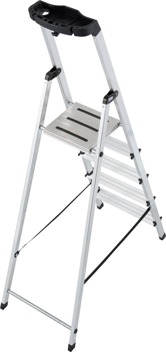 Krause Alu-Stufenstehleiter Safety® 5 Stufen