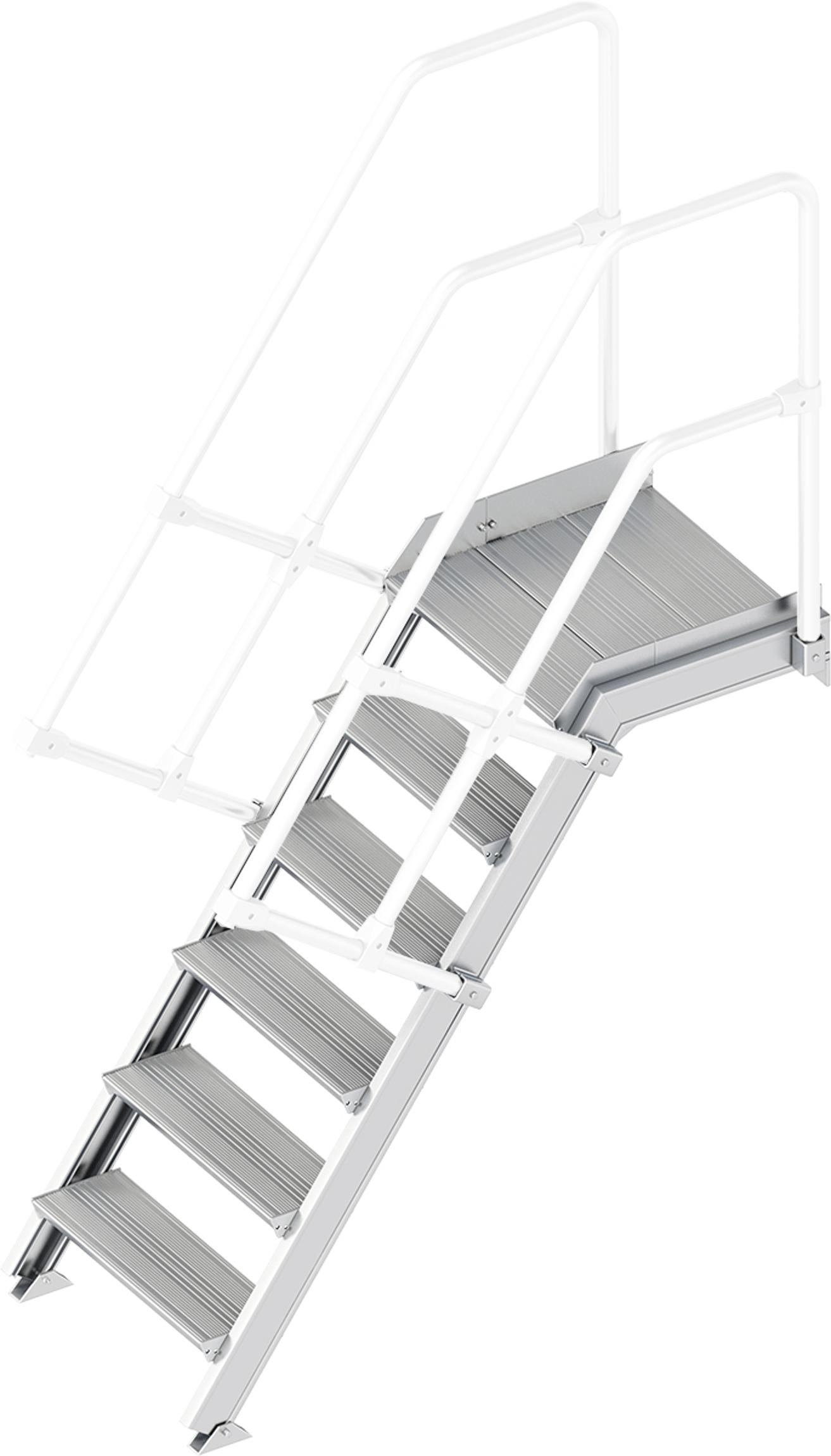 Layher Plattformtreppe 55° 6 Stufen - 600 mm breit