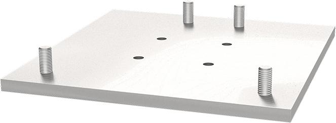 Schake Adapterplatte für Gitterrohrmast und Beton-Aufstellvorrichtung