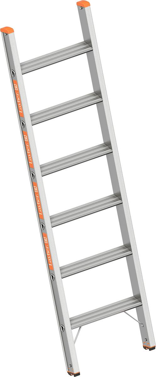 Layher Anlegeleiter Alu 6 Stufen