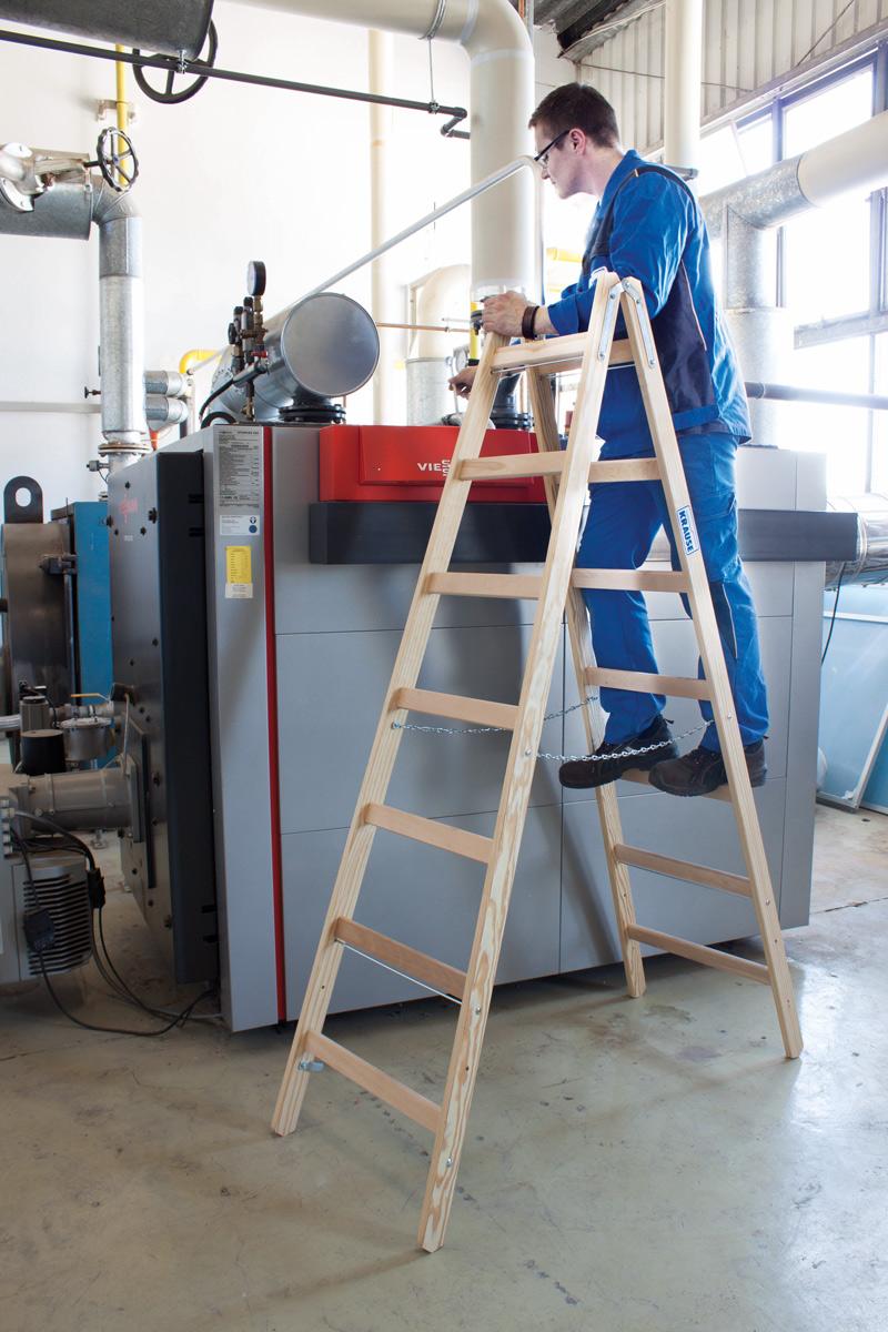 Krause Holz-Sprossendoppelleiter 2x12 Sprossen