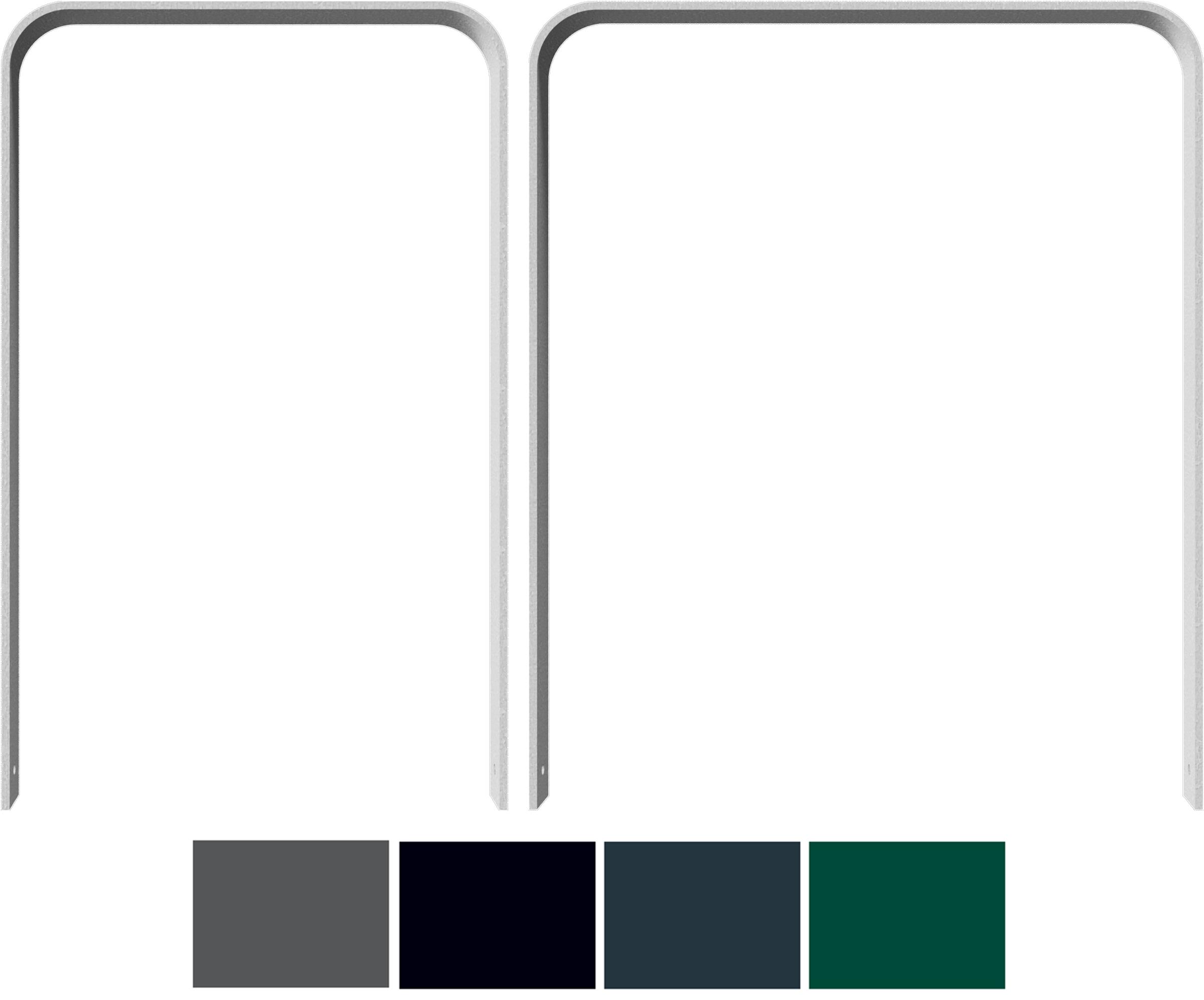 Schake Anlehnbügel Flachstahl gebogen 80 x 12 mm Sonderfarbe
