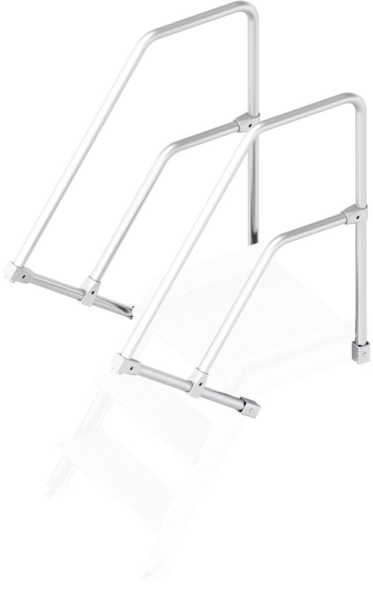 Layher Handlauf Geländer Plattformtreppe 55° 3 Stufen