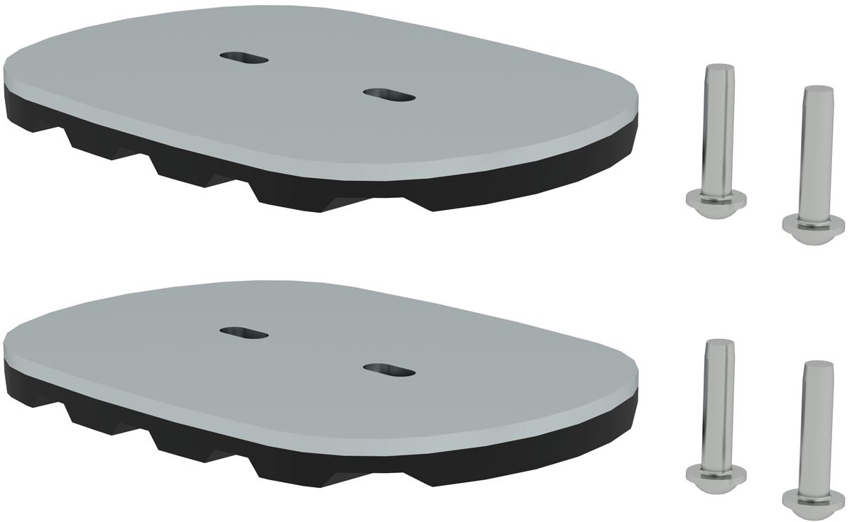 Günzburger nivello ®-Fußplatte für Gitterroste 126 x 89 mm