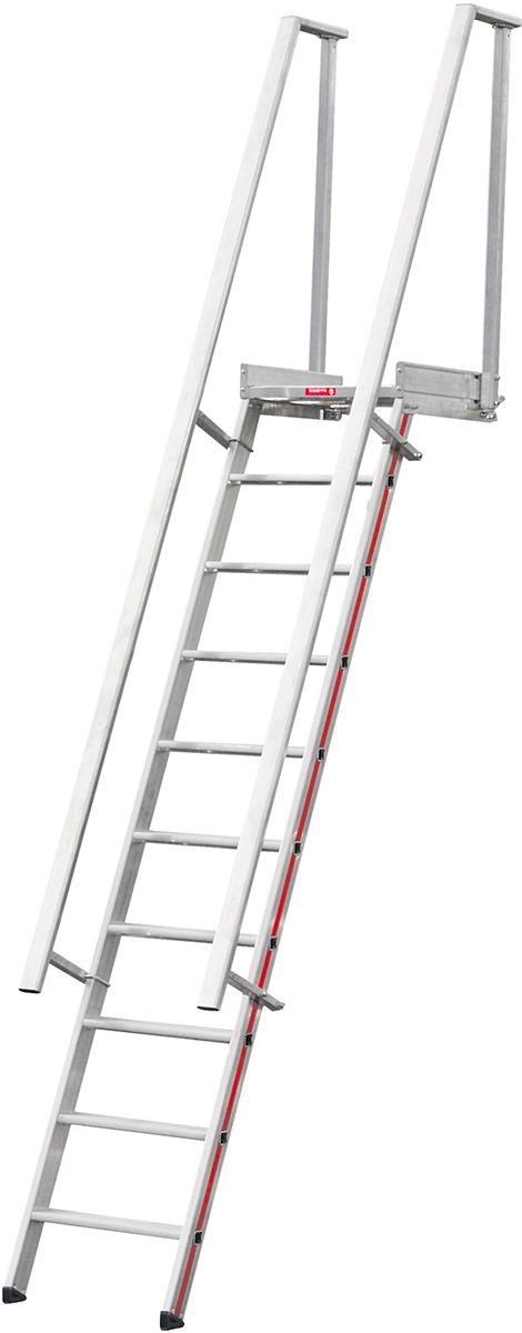 Hymer Stufenaufstieg mit Plattform 14 Stufen