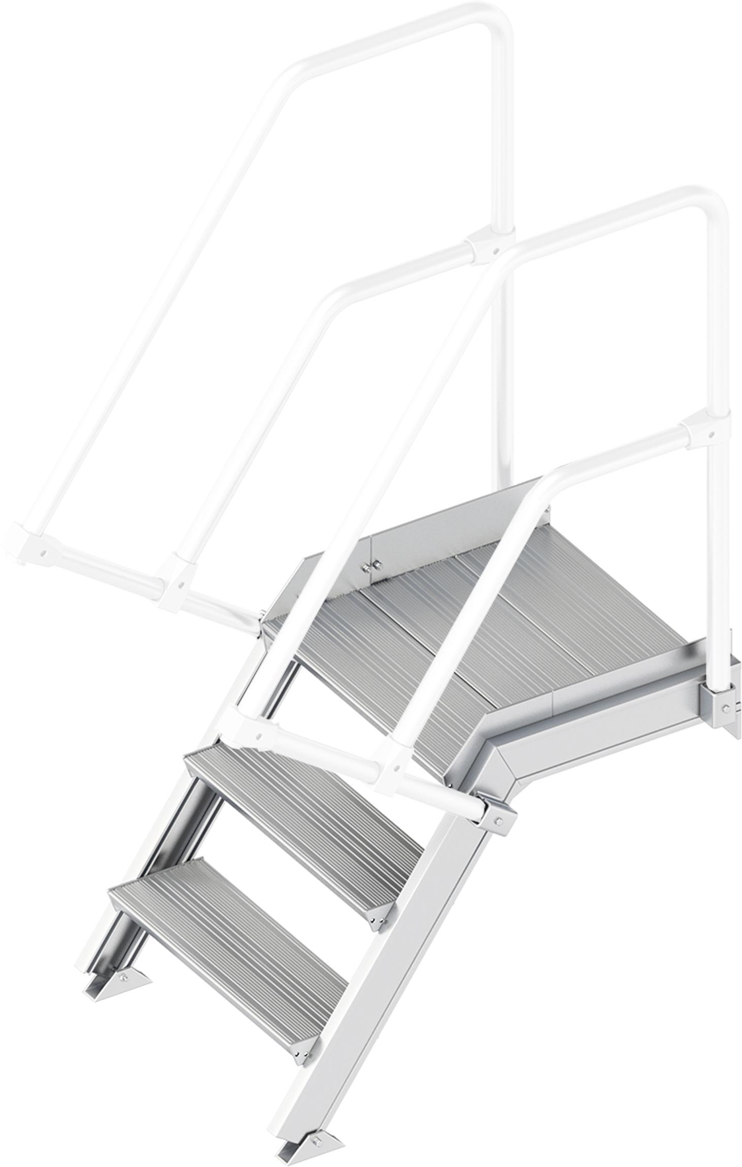 Layher Plattformtreppe 55° 3 Stufen - 600 mm breit