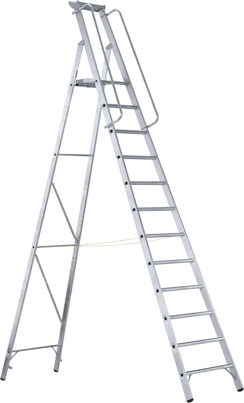 ZARGES Stufen Stehleiter Meistertritt S - 12 Stufen