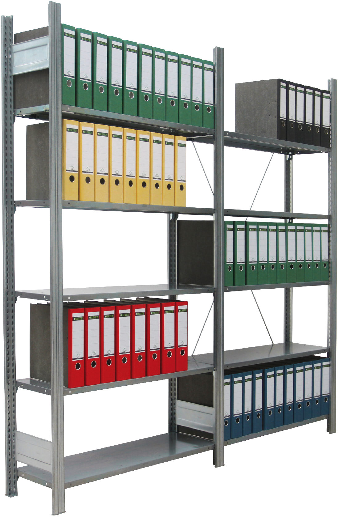 Regalwerk BERT Büroregal 80 Fachlast 80 kg - 5 bis 7 Fachböden (RW-C-B3-34108-30) Bild-01