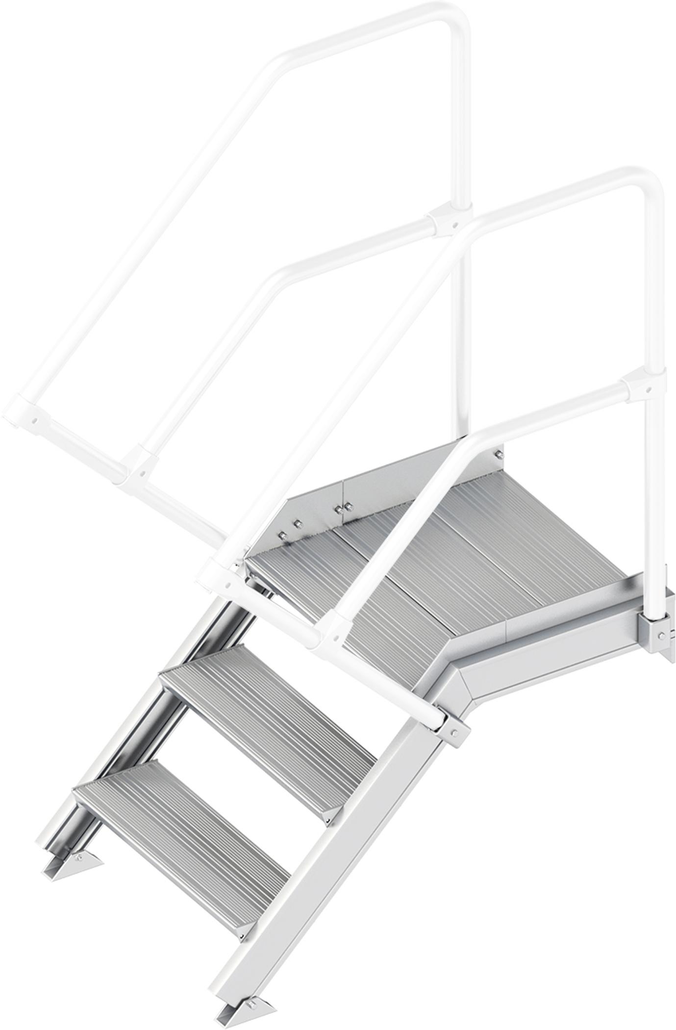 Layher Plattformtreppe 45° 3 Stufen - 600 mm breit