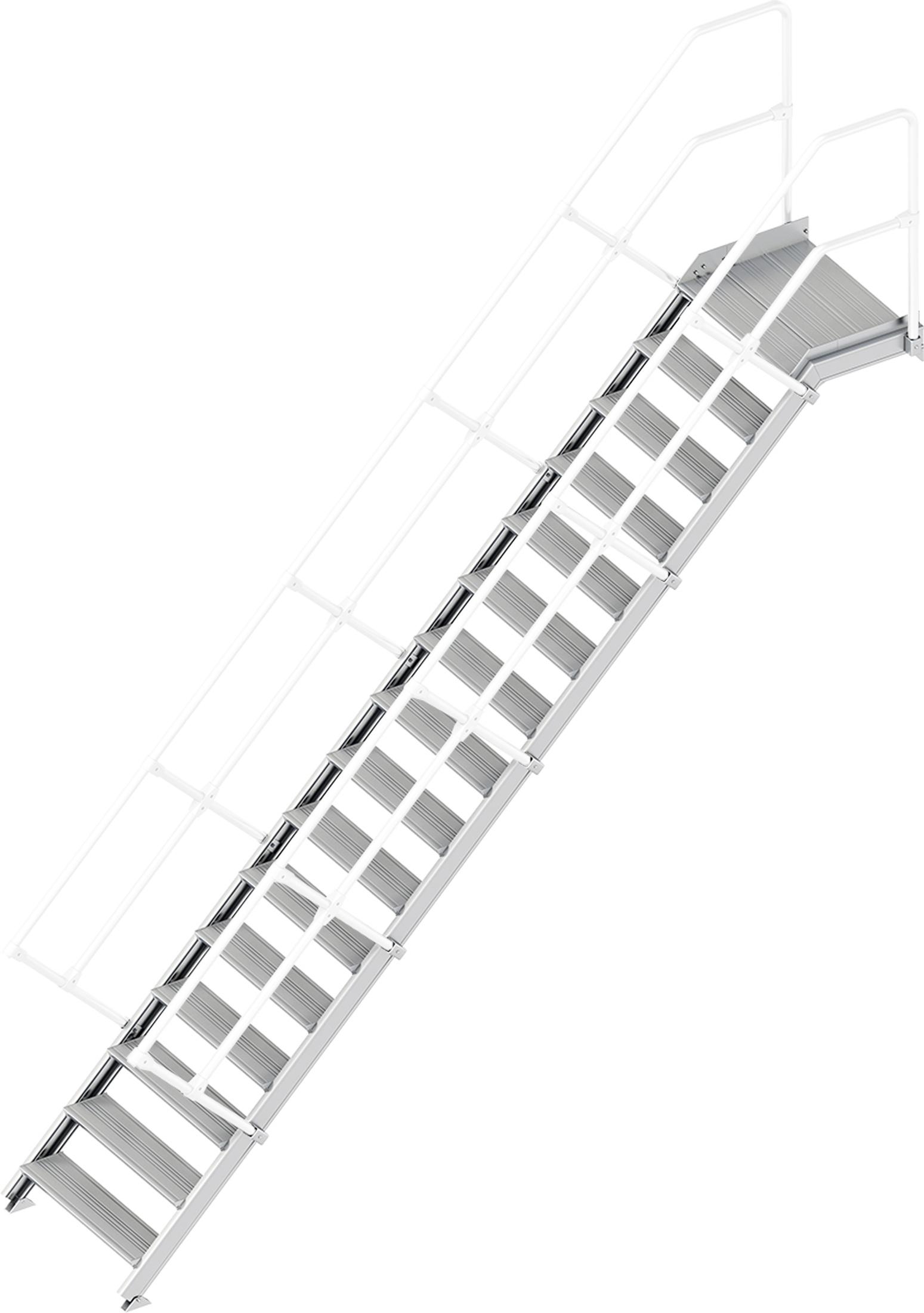 Layher Plattformtreppe 45° 16 Stufen - 800 mm breit