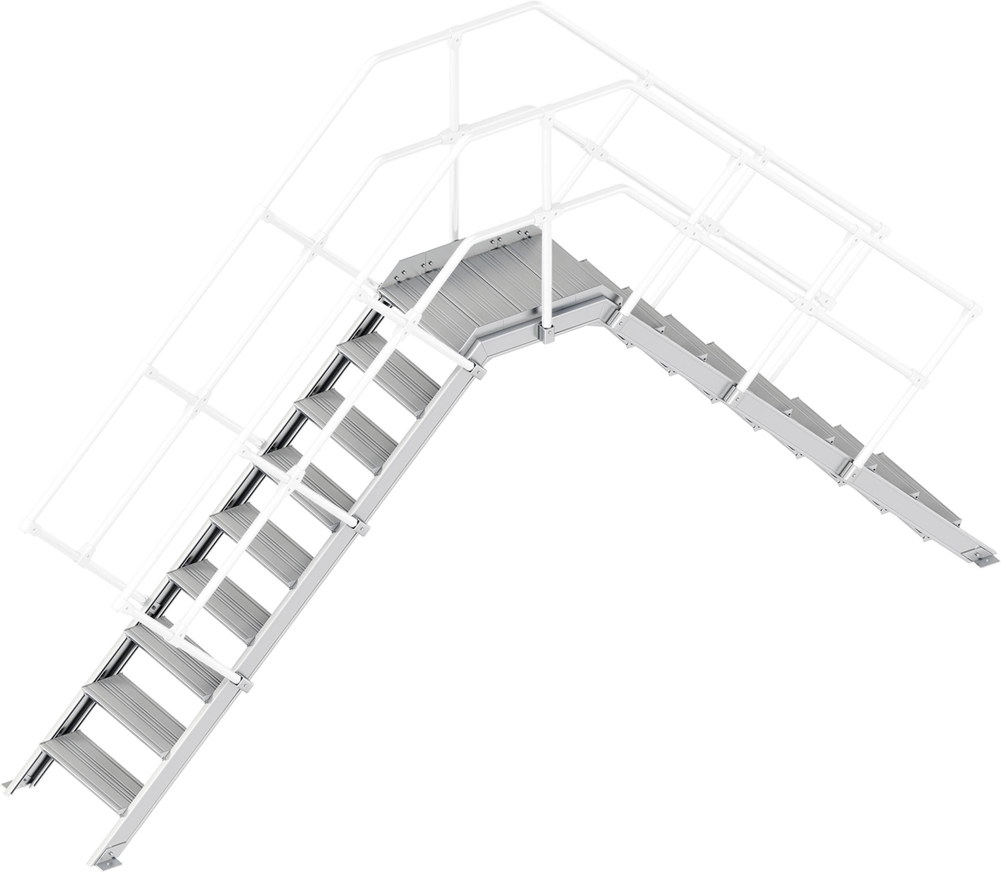 Layher Übergang 45° 9 Stufen - 600 mm breit