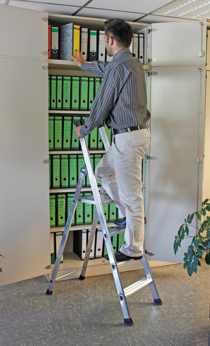 Krause Alu-Stufenstehleiter Solido® 4 Stufen