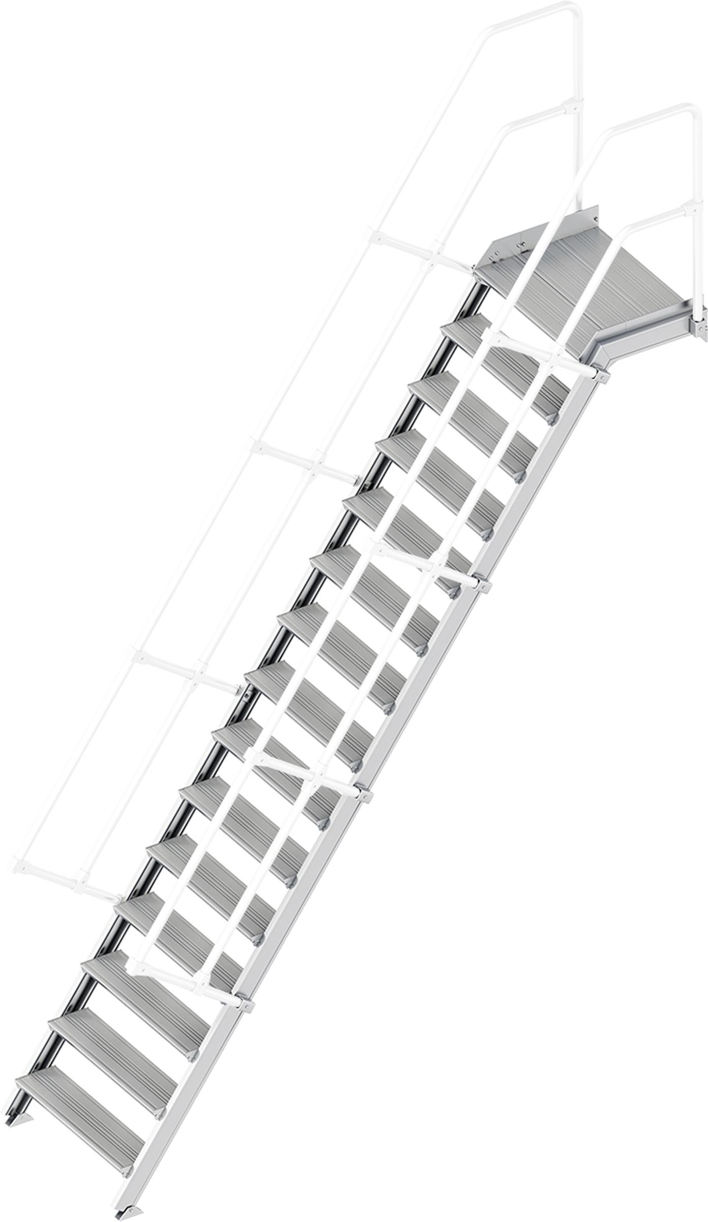 Layher Plattformtreppe 55° 15 Stufen - 800 mm breit