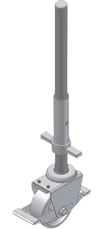 ZARGES Rollgerüst Alu-Guss-Lenkrolle mit Spindel 500