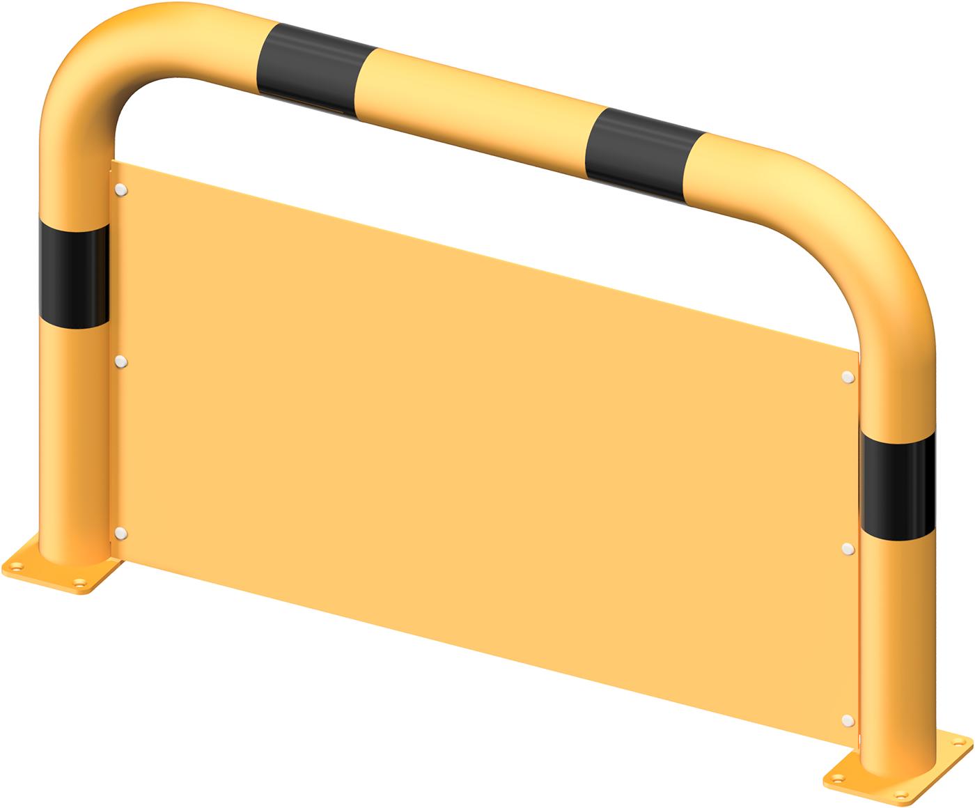 Schake Rammschutzbügel Stahl mit Unterfahrschutz Ø 76 mm gelb | schwarz