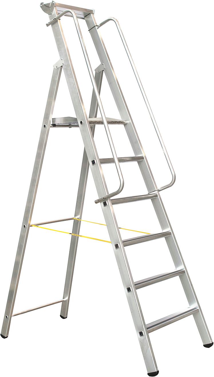 ZARGES Stufen Stehleiter Meistertritt S - 6 Stufen