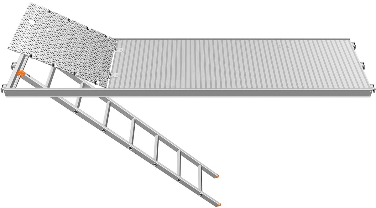Layher U-Alu-Durchstieg 2,57 x 0,61 m mit integrierter Etagenleiter
