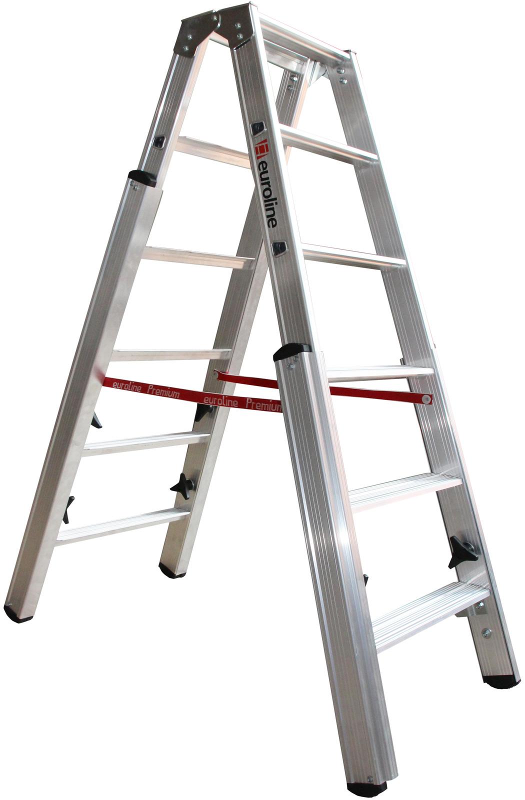 euroline Stufentreppenstehleiter PREMIUM Alu Stufen